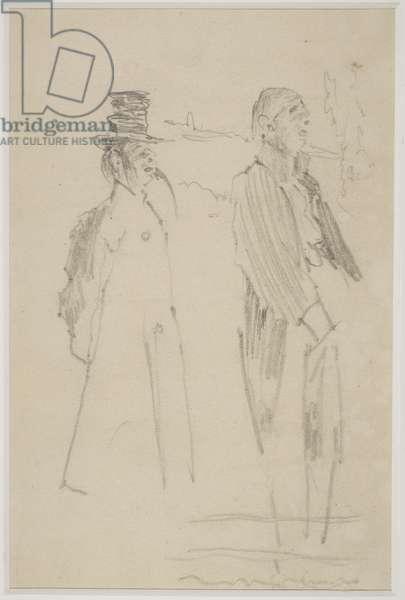 Two Vaudeville Gentlemen, c.1888 (pencil on paper)