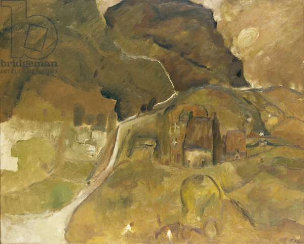 Landscape, Cumberland, 1958 (oil on canvas)