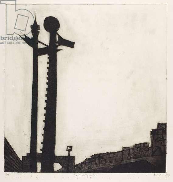Two Signals, 1957 (etching & aquatint)