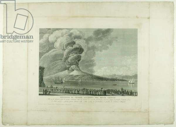 Eruption of Vesuvius, 1794 (engraving)