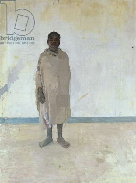 Hausa Standing, 1959 (oil on hardboard)