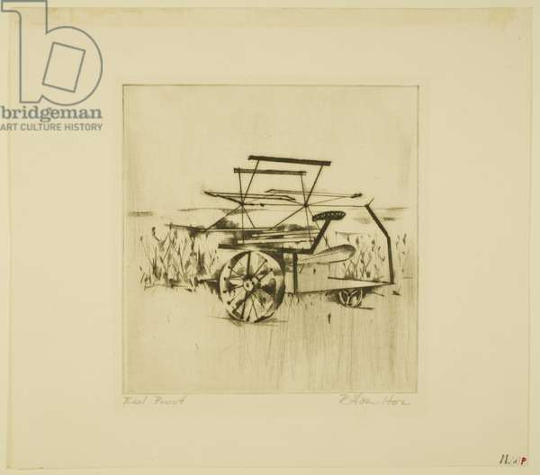 Reaper (p) 1949 (drypoint & roulette)