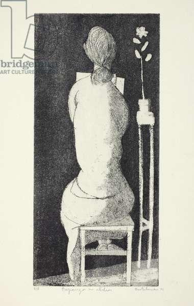 Rapariga no atelier, 1956 (etching & aquatint)