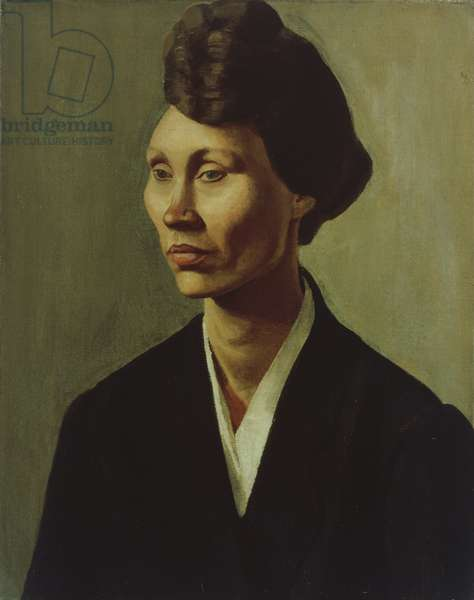 Portrait of a Young Woman, 1920 (oil on canvas)