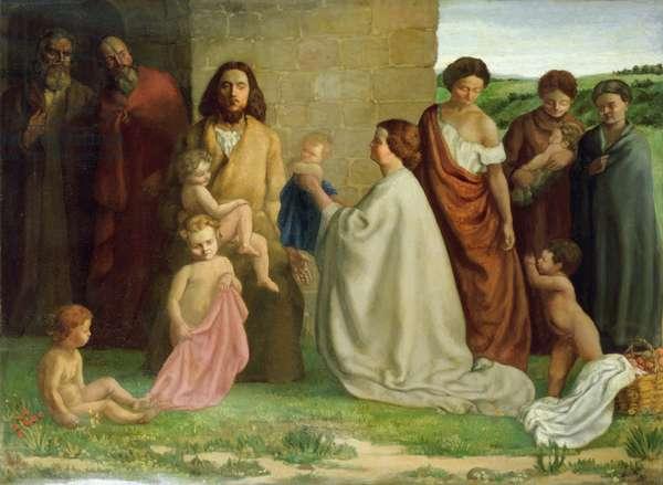 'Suffer little children to come unto me', 1905 (oil on canvas)