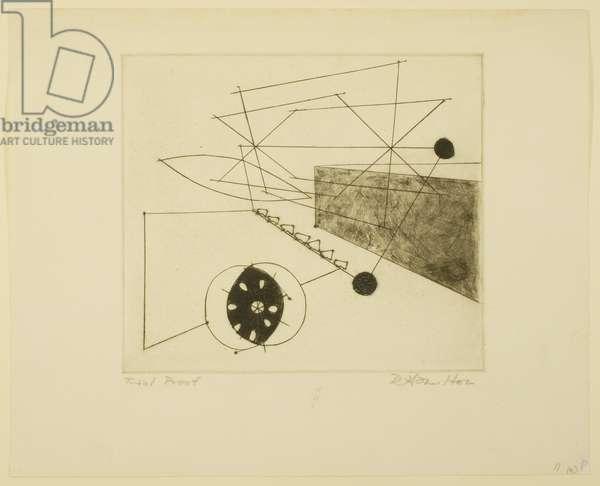 Reaper (k) 1949 (engraving, roulette, drypoint on paper)