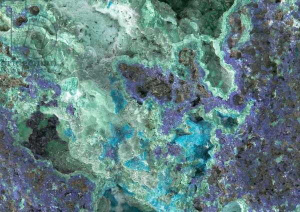 Azurite and malachite, from the Kamareza Mines, Attiki, Greece (detail of 273850)