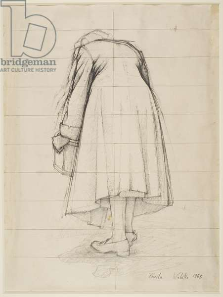 A Study of a Woman, 1953 (pencil on paper)