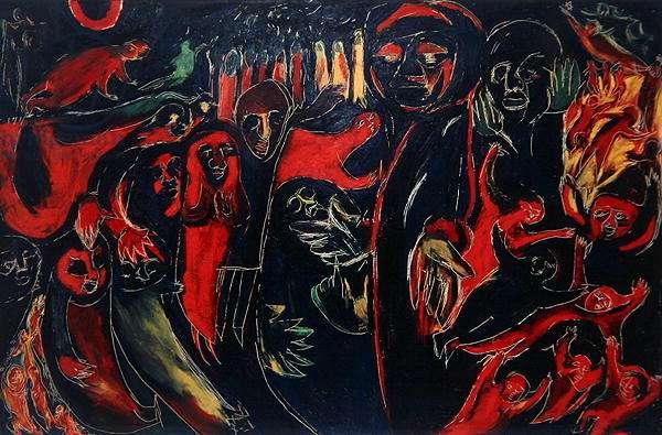 The Denial of St. Peter, 1952 (oil on hardboard)