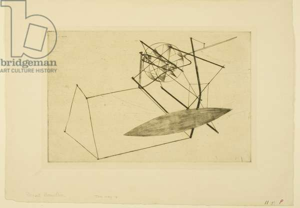 Reaper (d) 1949 (drypoint and roulette)