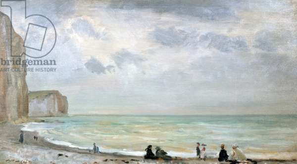 The Beach at Dover (oil on panel)