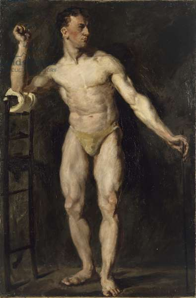 Male Figure Standing, 1906 (oil on canvas) [LDUCS-5188]