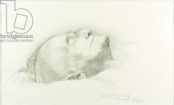 Henry Tonks at the Vale: Head of Tonks, dead, 1937 (pencil on paper)