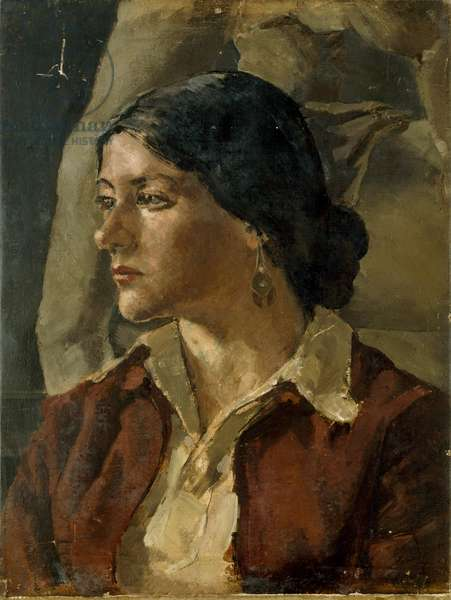 Portrait of a Girl, 1947 (oil on canvas)