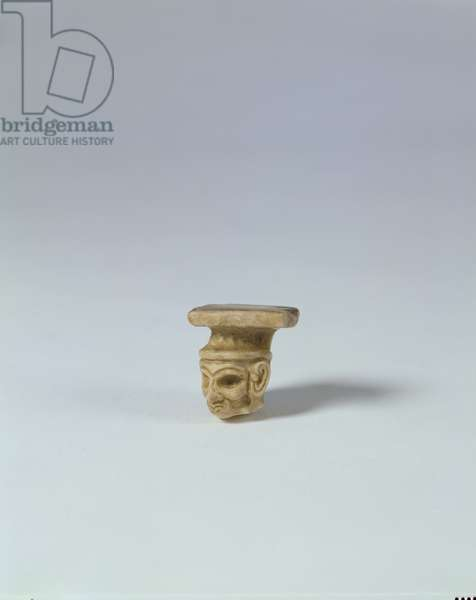 Head, possibly Jemdet Nasr period (3100-2900 BC) (marble)