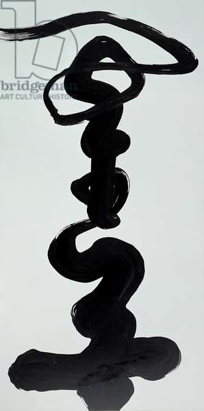 Calligraphic painting (oil on canvas)
