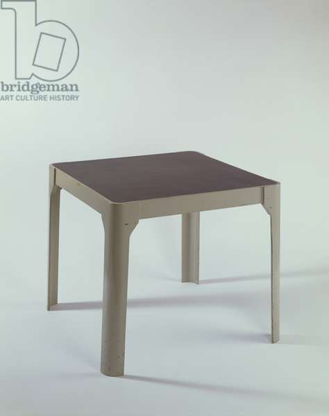Isokon table (prototype for mass production), 1935 (plywood, paint & rubber)