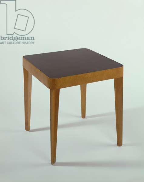 Isokon Occasional Table, 1936 (wood, plywood, birch & rexine)