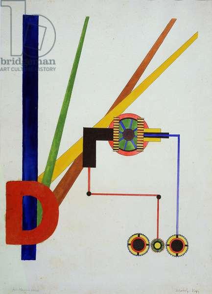 Composition, 1921 (gouache & glue on paper)