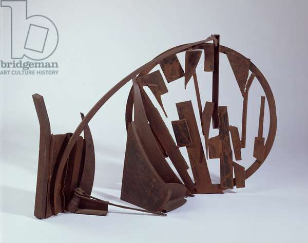 Table Sculpture CCCLXXI, 1977 (rusted steel & varnish)