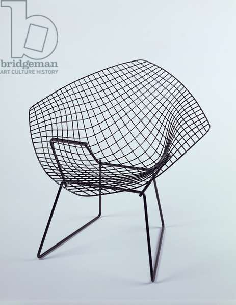 Diamond Chair, 1952 (tubular steel, wire and paint)