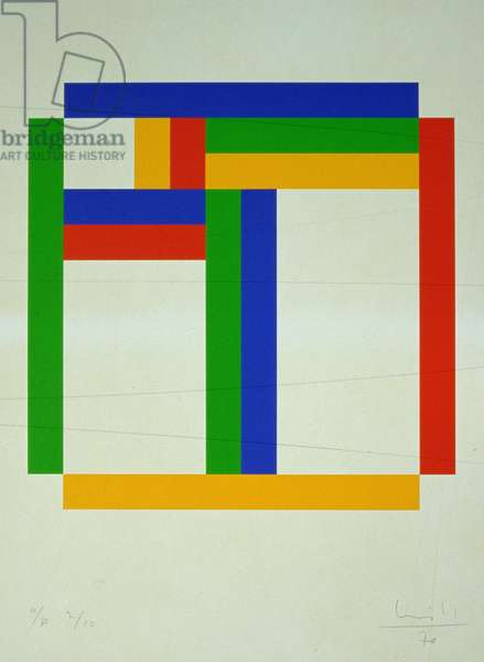 Silkscreen in 4 Colours, 1970 (ink on paper)