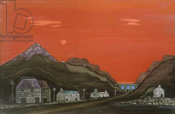 Welsh Slate Mine (oil on canvas)