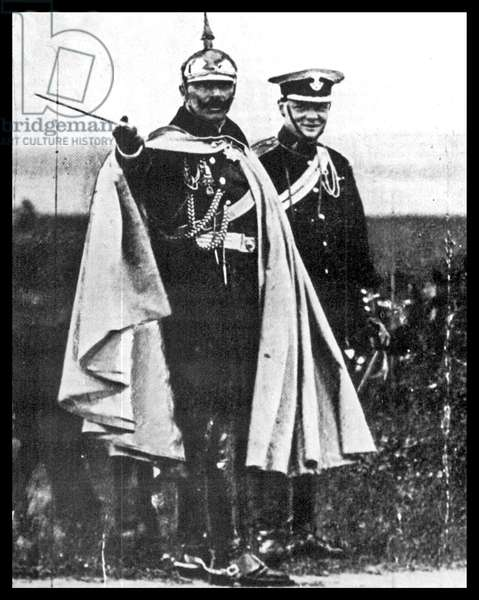 Winston Churchill with the German Emperor Wilhelm II in 1906