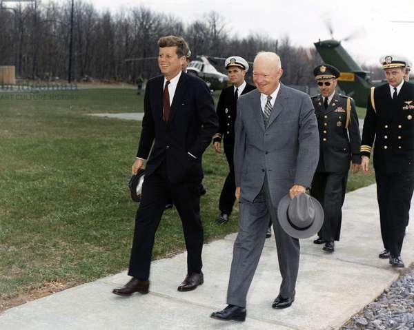 President John F Kennedy and Dwight Eisenhower