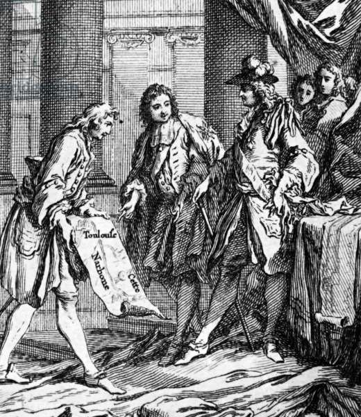 The presentation of the results of work to the King of France, 1754
