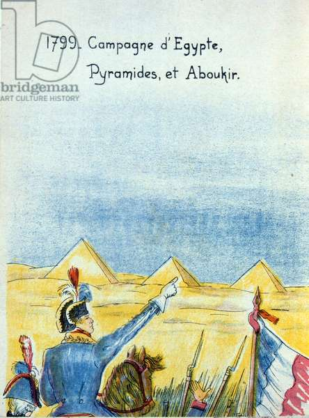 Napoleon at the Pyramids, during the Egyptian Campaign of 1799