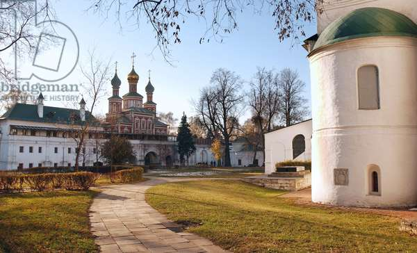 Novodevichy Convent In Moscow : On Novodevichy Convent in Moscow, Russia, 03/11/09 ©ITAR-TASS/UIG/Leemage