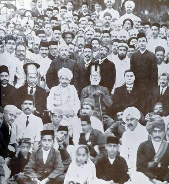 Mohandas Karamchand Gandhi on his return to India