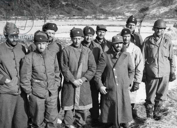 Korean War. American POWs captured by Chinese People's Volunteers