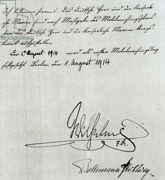 Signature of Vilhelm II av Tyskland, 1900