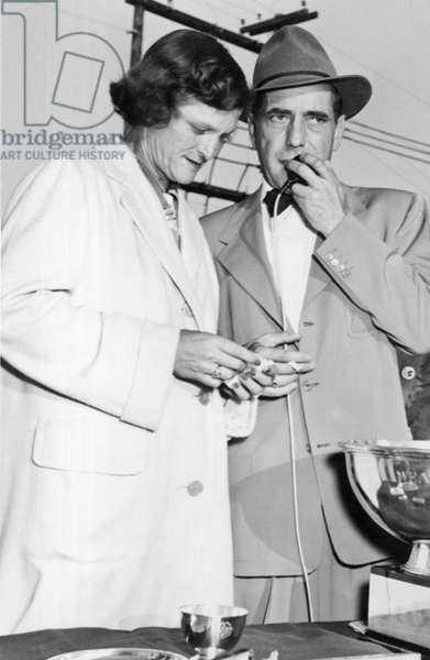 Zaharias And Bogart (b/w photo)