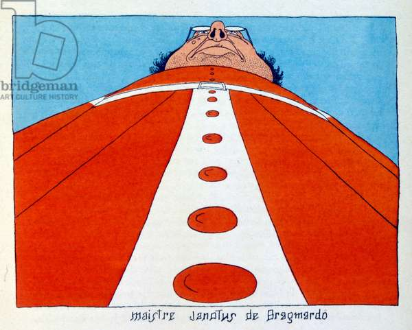 Illustration from 'Gargantua', 1931, by François Rabelais. illustrations by Dubout.