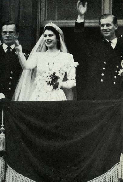The newly wed Princess Elizabeth and Prince Philip