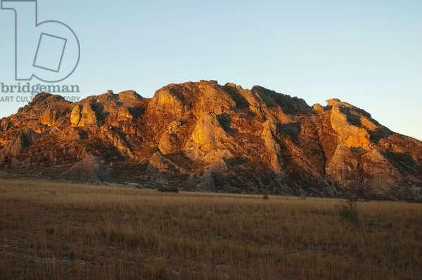 Eroded Jurassic Sandstone Massive By La Fenetre Rock Formation (photo)