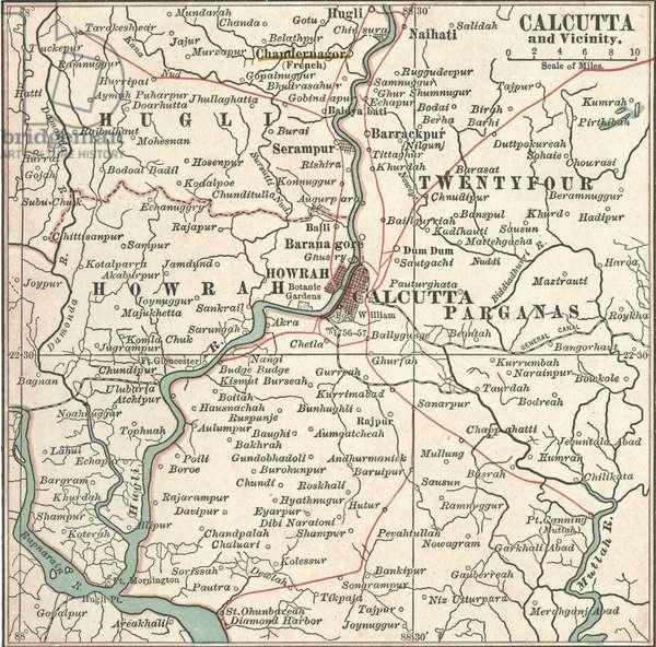 Map of Calcutta