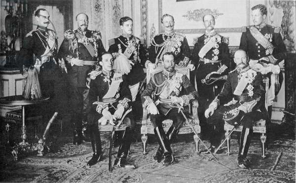 European royalty gathered in London for the funeral of King Edward VII