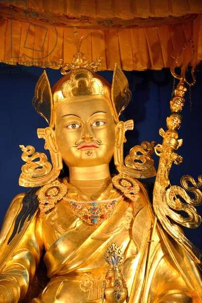 Padmasambhava statue in Lerab Ling buddhist monastery (photo)