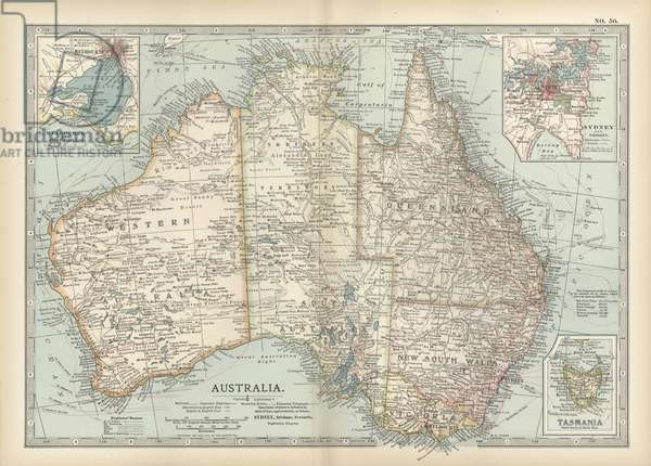 Map of Australia and Tasmania