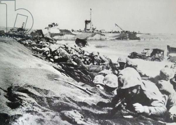 Two marine divisions landed at Iwo Jima on 15th February 1945
