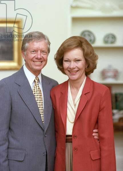 US president Jimmy Carter with his wife Rosalynn Carter, 1950