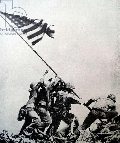 Raising the Flag on Iwo Jima, 1945