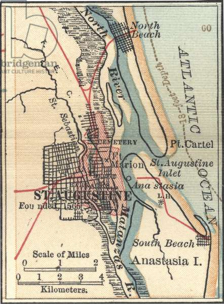 Map of St. Augustine, Florida