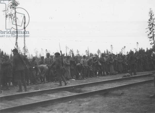 Bolshevik prisoners, 1919 (b/w photo)
