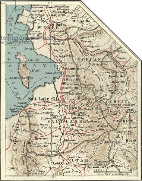 Map of Salt Lake City