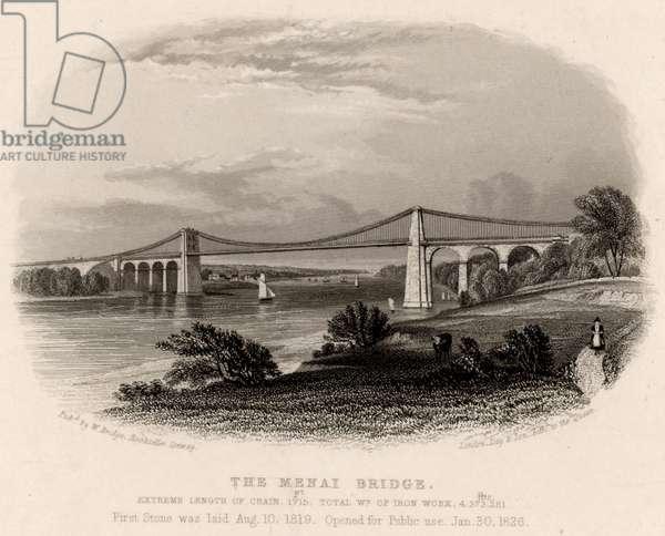 Suspension bridge over Menai Straits